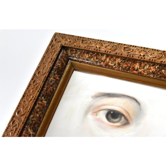 Susannah Carson Contemporary Lover's Eye Painting by Susannah Carson in a Marbled Victorian Frame For Sale - Image 4 of 6