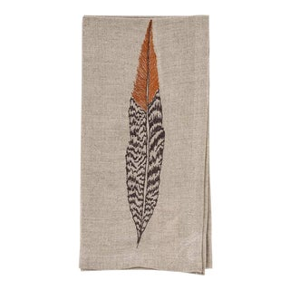 Pheasant Feather Dinner Napkin For Sale
