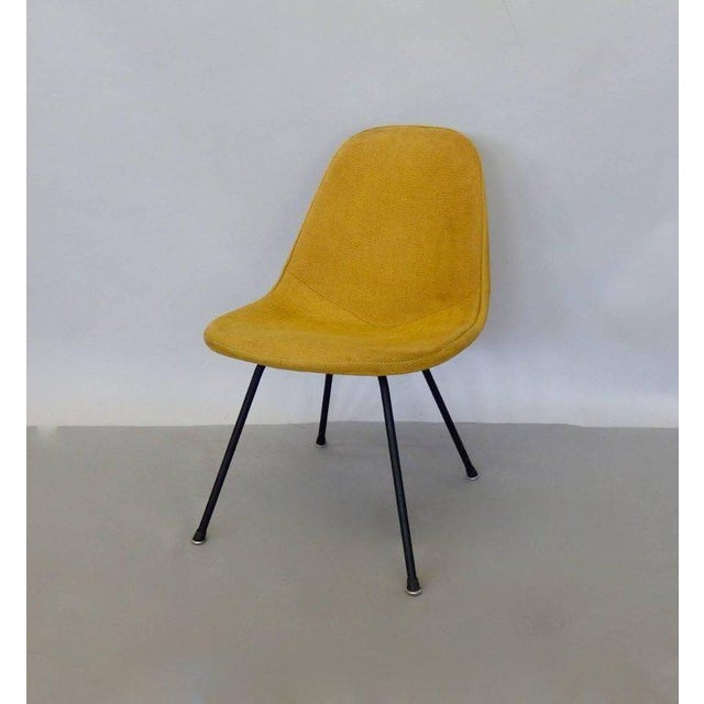 """Charles and Ray Eames for Herman Miller DKR lounge chair. The chair is earlier production evidenced by the solid steel """"X""""..."""