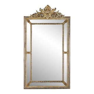 19th Century Antique Régence Style Pareclose French Mirror For Sale