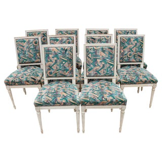 Early 20th Century Louis XVI Style Dining Chairs - Set of 10 For Sale