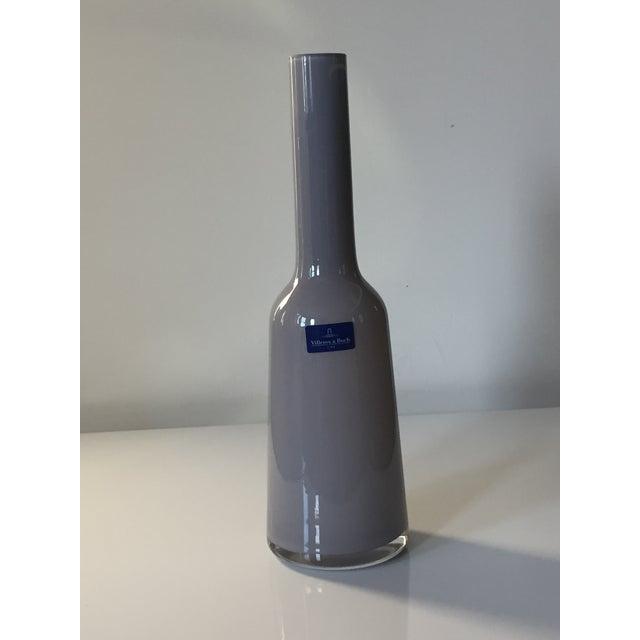 Villeroy & Boch Light Gray Blown Glass Vase For Sale - Image 5 of 5