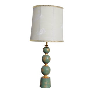 1940s Vintage Hollywood Regency Lamp With Shade For Sale