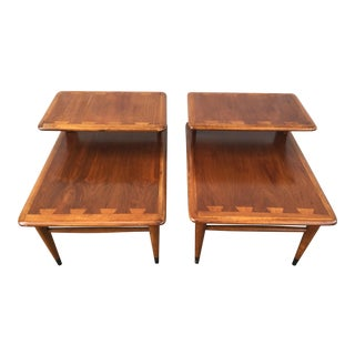 Lane Acclaim Mid-Century Modern Side End Tables - A Pair