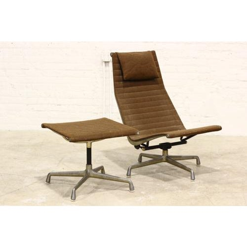 Vintage Aluminium Group Lounge Chair and Ottoman - Image 2 of 6