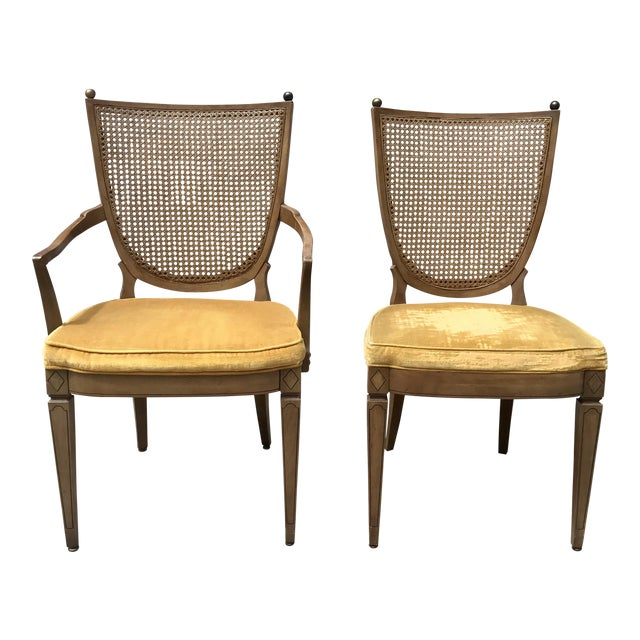 Vintage Caned Back Chairs - A Pair - Image 1 of 7