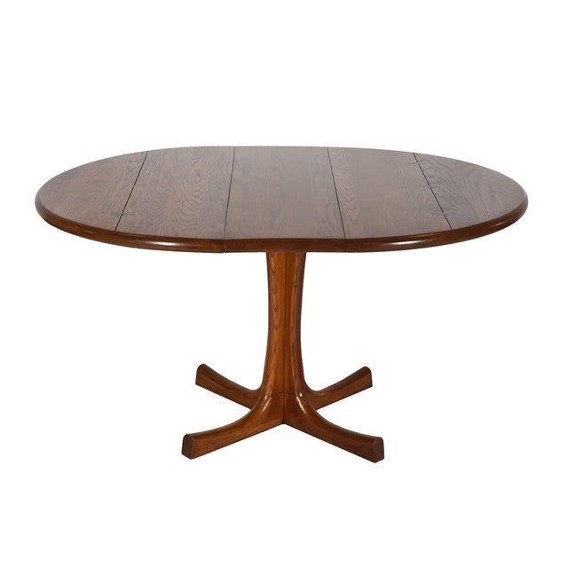 Mid-Century Modern Conant Ball Round Pedestal Dining Table For Sale - Image 3 of 6