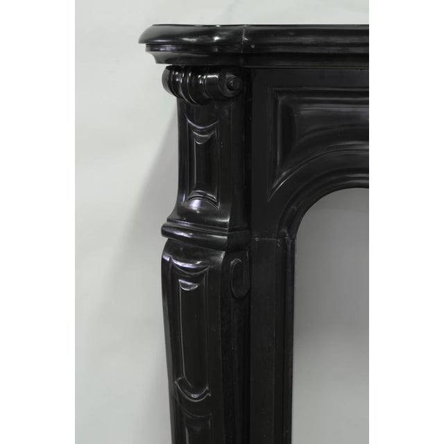 Pair of Marble Antique French Pompadour Style Fireplace Mantels For Sale - Image 6 of 9