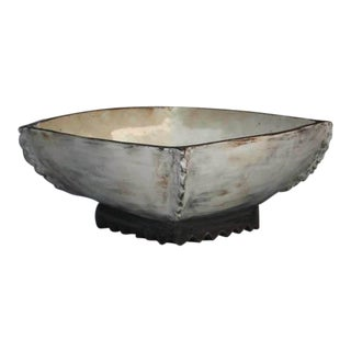 Kang Hyo Lee, Puncheong Squared Bowl With Ash Glaze 3, 2011 For Sale