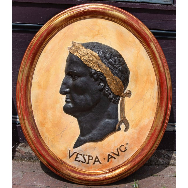 Figurative Classical Plaques of Roman Emperors - Set of 4 For Sale - Image 3 of 7