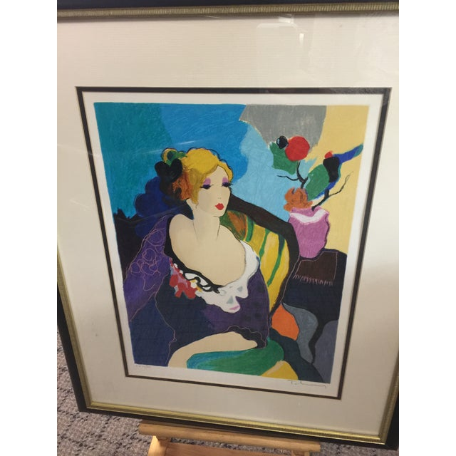 Figurative Itzchac Tarkay Lithograph Signed Artist Proof For Sale - Image 3 of 7