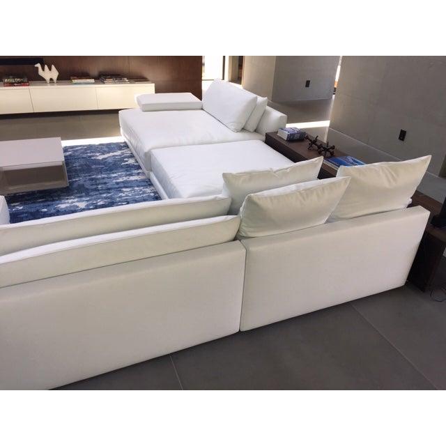 Strange Poliform Bristol Leather Couch With Table Short Links Chair Design For Home Short Linksinfo