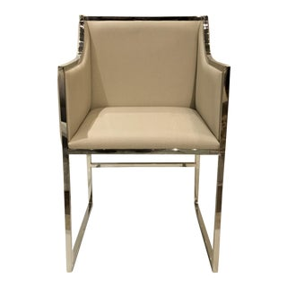 Worlds Away Annabelle Chevron Side Chair For Sale