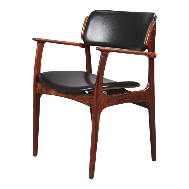 Mid-Century Modern Erik Buch Armchair in Rosewood, Inc. Reupholstery For Sale
