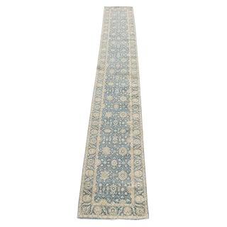 Traditional Ottoman Turkish Design Fine Wool Runner - 2′6″ × 17′8″ For Sale