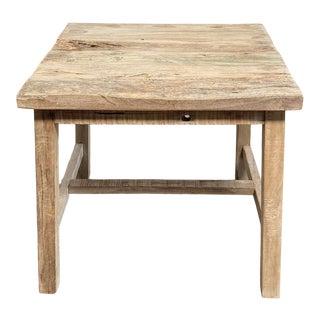Teak Wood Rustic Side Table For Sale