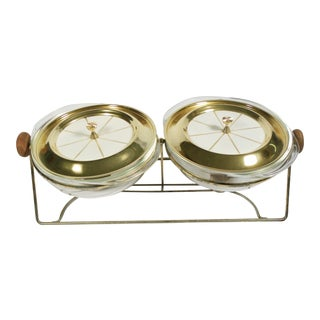 Vintage Mid-Century Chafing Dish