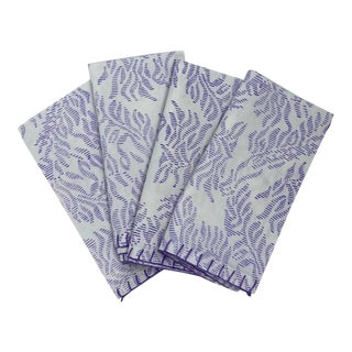 Balthazar Blockprinted Napkins by Tulu - Set of 4 For Sale