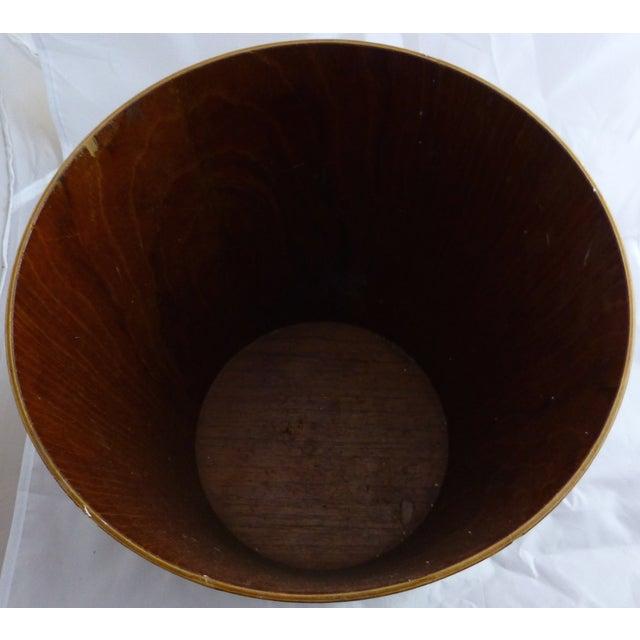 Danish Modern Teak Waste Basket - Image 9 of 10