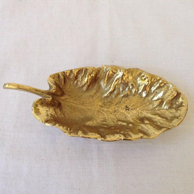 Hollywood Regency Virginia Metal Crafters Primrose Leaf For Sale - Image 3 of 5