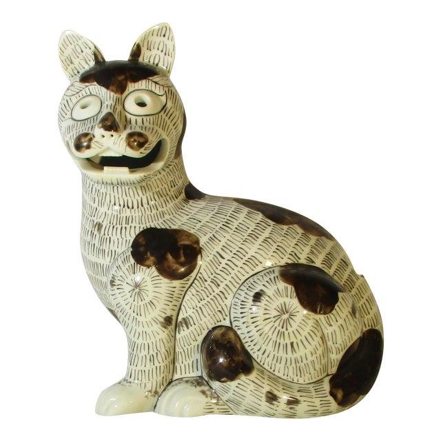 Rockefeller Collection of Mottahedeh Kang Hsi Cat For Sale