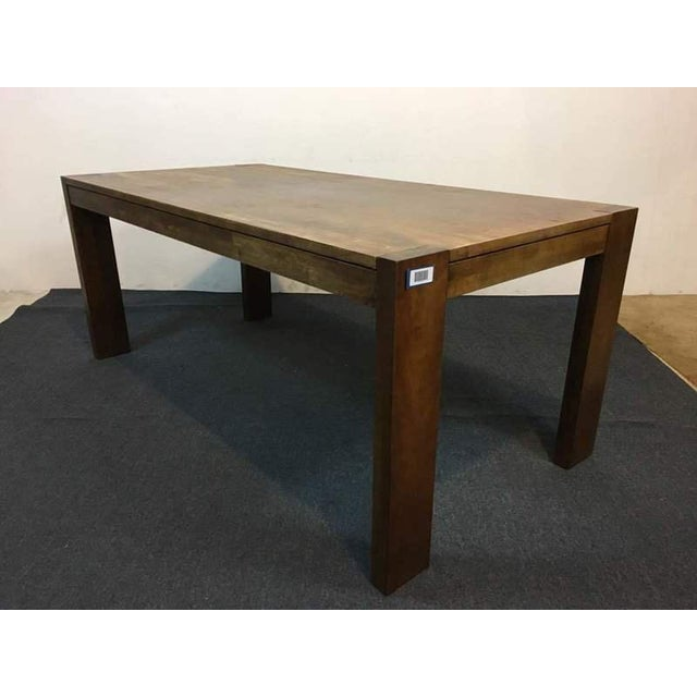 West Elm Contemporary Rustic Oak Dining Table - Image 3 of 7