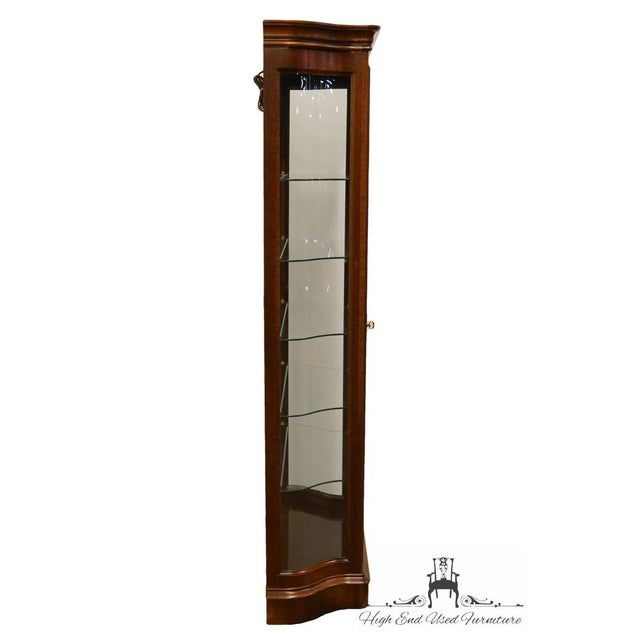"""20th Century Traditional Jasper Cabinet Solid Colonial Cherry 37"""" Curio Display Cabinet For Sale - Image 9 of 12"""