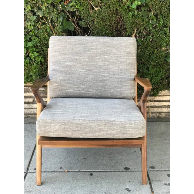 Mid Century Modern Lounge Chair and Ottoman- Customizable For Sale - Image 10 of 13