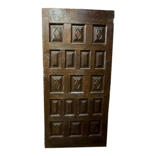 Circa 1780 Spanish Walnut Door For Sale
