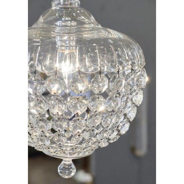 Antique Crystal Baccarat Chandelier For Sale - Image 4 of 10