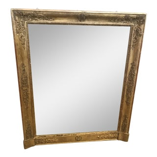 Mid 19th Century French Empire Giltwood Mirror For Sale