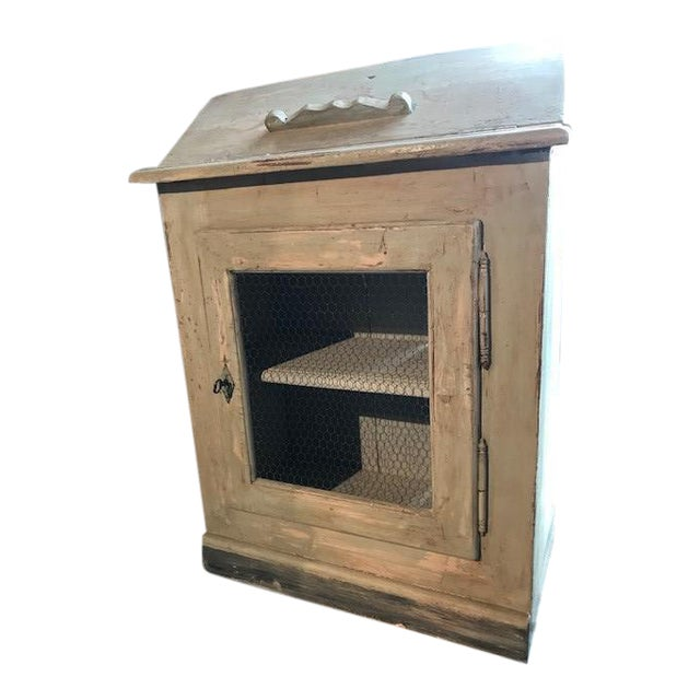 Antique Wire Front French Cupboard For Sale