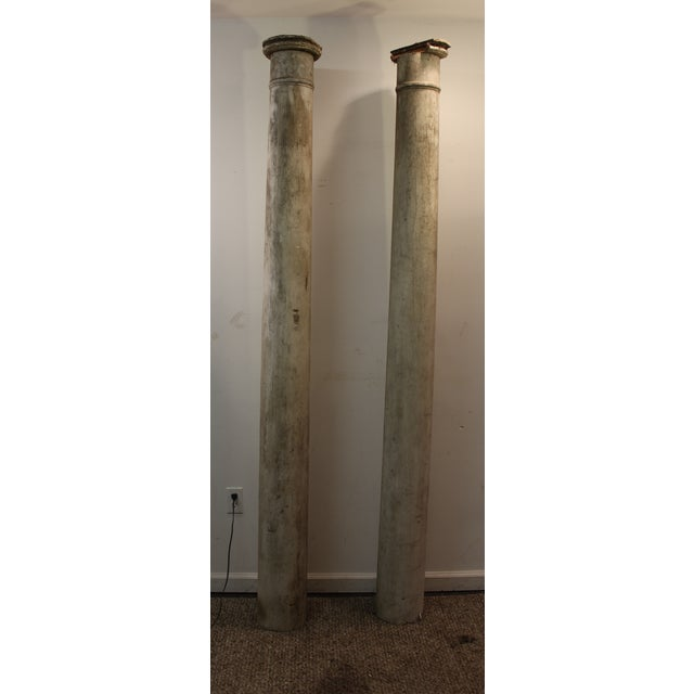 1930s Salvaged Architectural Columns - A Pair - Image 4 of 11