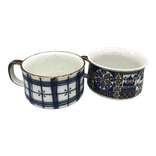 Vintage Otagiri Stoneware Soup Mugs - a Pair
