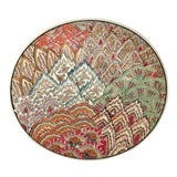 Image of Chinese Art Deco Hand Painted Plate For Sale