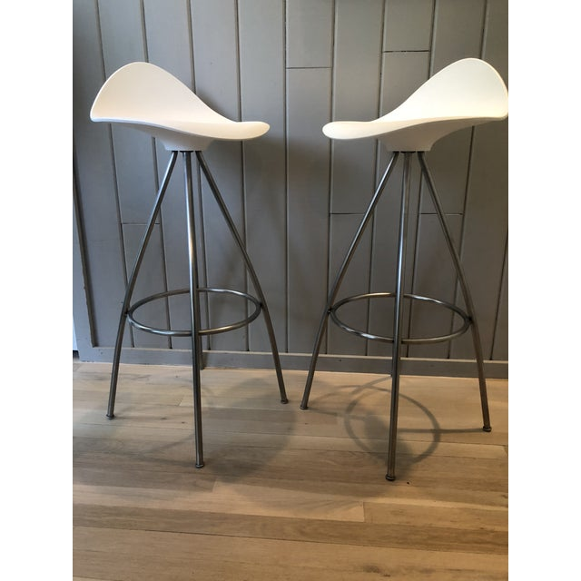 Jesús Gasca for Stua Onda Bar Stools - a Pair For Sale - Image 10 of 10