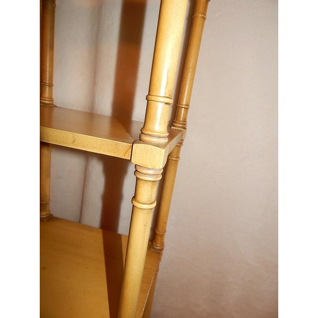 Mid-Century Faux Bamboo Tiered Shelf - Image 8 of 10
