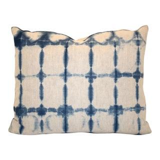 Hand-Dyed Shibori Indigo Pillow