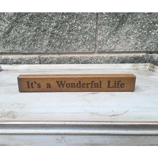 Vintage It's a Wonderful Life Sign - Image 2 of 5