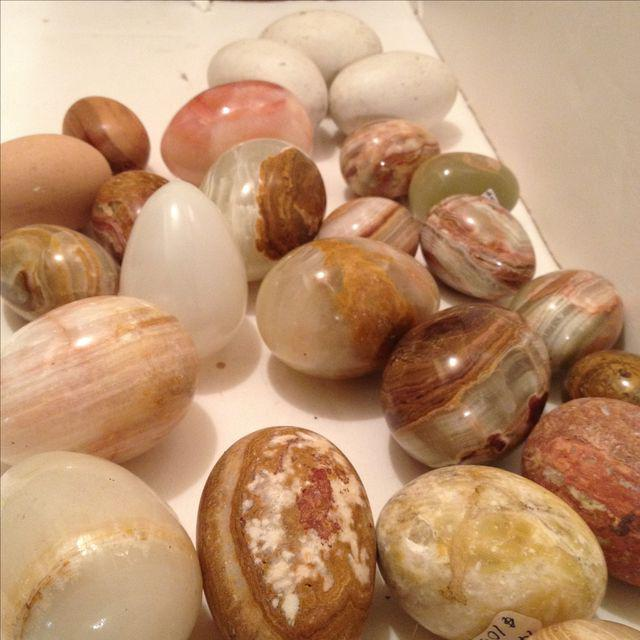 Americana Wood, Marble & Alabaster Eggs - Set of 25 For Sale - Image 3 of 5