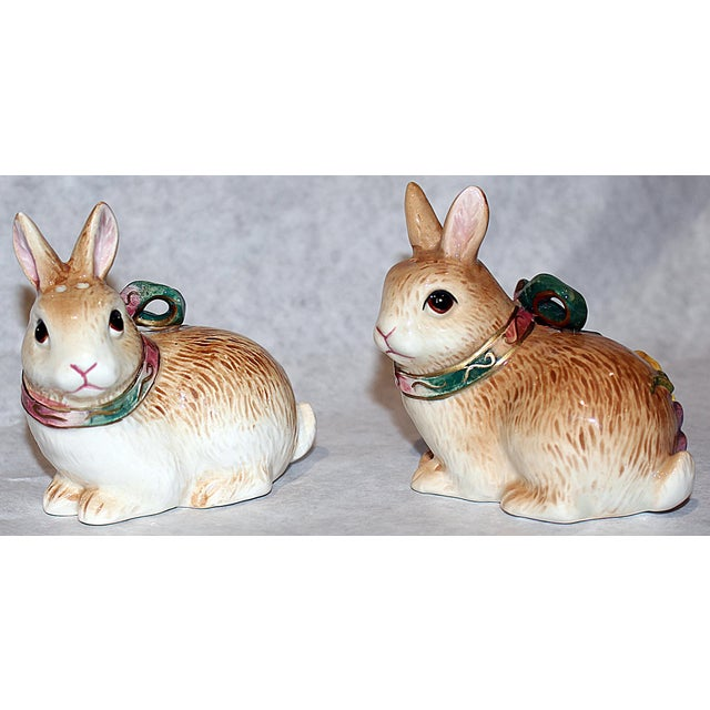 Fitz and Floyd Bunny Rabbit Shakers - Set of 4 - Image 4 of 11