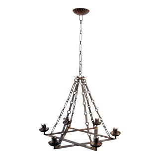 1920's Iron Star Form Chandelier For Sale