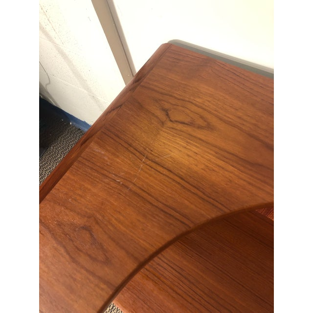 Midcentury Danish Teak Queen Size Headboard With Nightstands For Sale In Atlanta - Image 6 of 13