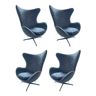 Arne Jacobsen Egg Chairs - Set of 4 For Sale