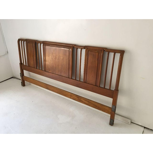 Mid-Century Modern Midcentury John Widdicomb Cherry King-Size Headboard For Sale - Image 3 of 8