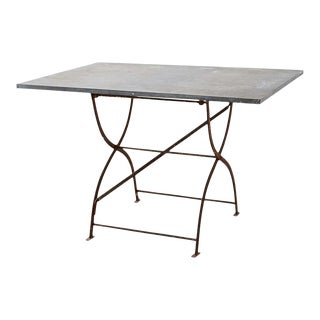 French Zinc Folding Garden Tables For Sale