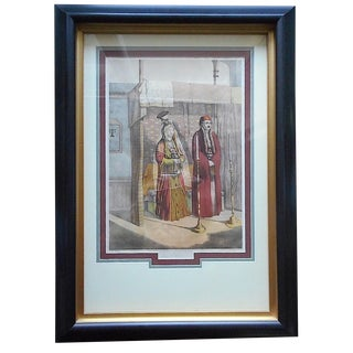 """Judaica-Antique Signed Chromolithograph """"Jewish Marriage""""-Framed For Sale"""