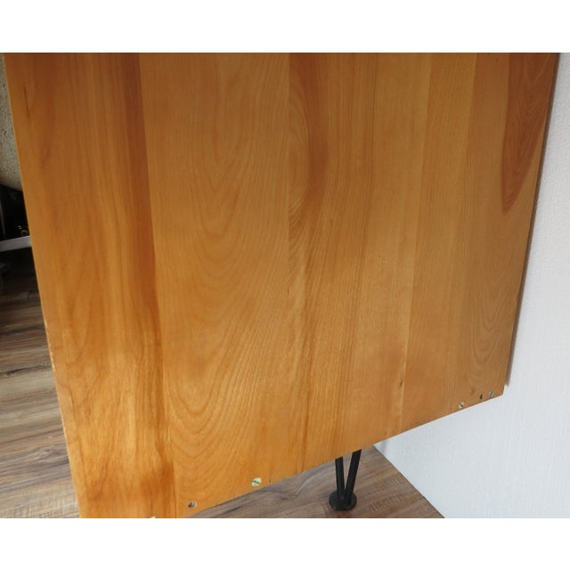 Brown 1950's Mid-Century Modern Mengel Writing Desk With Hairpin Legs For Sale - Image 8 of 13