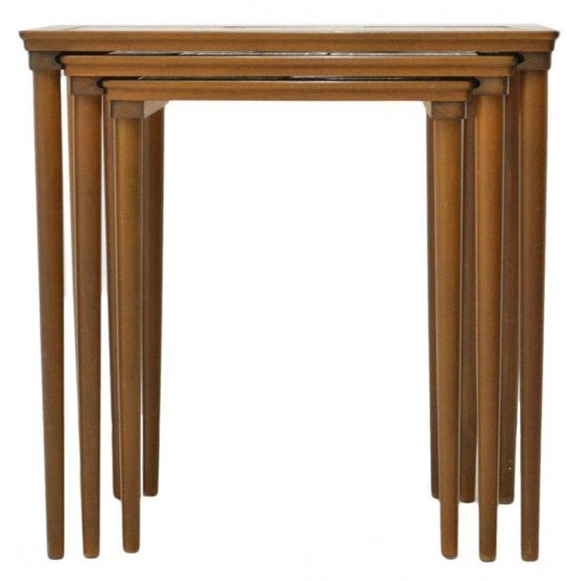 Danish Tile Top Nesting Tables - Set of 3 - Image 4 of 4