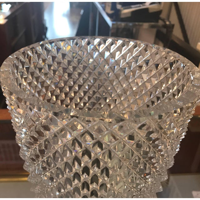 Late 19th Century Diamond Cut Crystal Vase For Sale - Image 4 of 11